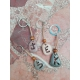 Handmade key chain personalized natural stone beach
